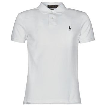 Vêtements Homme Polos manches courtes Polo Ralph Lauren POLO CINTRE SLIM FIT EN COTON BASIC Blanc