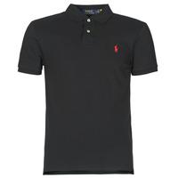 Vêtements Homme Polos manches courtes Polo Ralph Lauren POLO CINTRE SLIM FIT EN COTON BASIC Noir