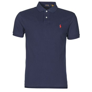 Vêtements Homme Polos manches courtes Polo Ralph Lauren POLO CINTRE SLIM FIT EN COTON BASIC Marine