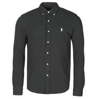 Vêtements Homme Chemises manches longues Polo Ralph Lauren CHEMISE AJUSTEE COL BOUTONNE EN POLO FEATHERWEIGHT Noir