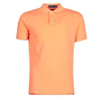 Vêtements Homme Polos manches courtes Polo Ralph Lauren POLO AJUSTE DROIT EN COTON BASIC Orange