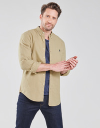 Vêtements Homme Chemises manches longues Polo Ralph Lauren CHEMISE CINTREE SLIM FIT EN OXFORD LEGER Beige