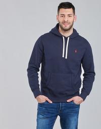 Vêtements Homme Sweats Polo Ralph Lauren SWEAT A CAPUCHE MOLTONE EN COTON Bleu