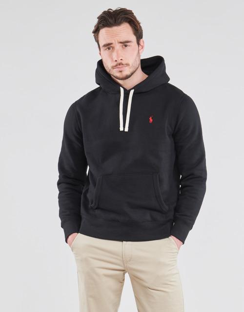 Vêtements Homme Sweats Polo Ralph Lauren SWEAT A CAPUCHE MOLTONE EN COTON Noir
