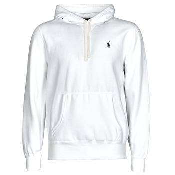 Vêtements Homme Sweats Polo Ralph Lauren SWEAT A CAPUCHE MOLTONE EN COTON Blanc
