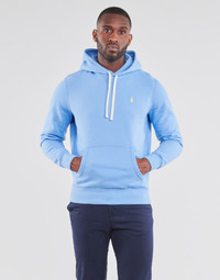 Vêtements Homme Sweats Polo Ralph Lauren SWEAT A CAPUCHE MOLTONE EN COTON Bleu