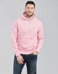 Vêtements Homme Sweats Polo Ralph Lauren SWEAT A CAPUCHE MOLTONE EN COTON Rose