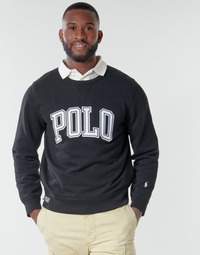 Vêtements Homme Sweats Polo Ralph Lauren SWEATSHIRT COL ROND INSCIRPTION POLO Noir