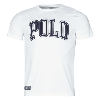 Vêtements Homme T-shirts manches courtes Polo Ralph Lauren T-SHIRT COL ROND INSCRIPTION POLO EN COTON Blanc