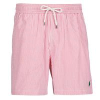 Vêtements Homme Maillots / Shorts de bain Polo Ralph Lauren MAILLOT SHORT DE BAIN RAYE SEERSUCKER Rouge / Blanc