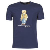 Vêtements Homme T-shirts manches courtes Polo Ralph Lauren T-SHIRT COL ROND POLO BEAR EN COTON Marine