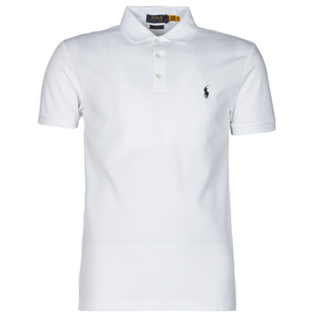 Vêtements Homme Polos manches courtes Polo Ralph Lauren POLO CINTRE SLIM FIT EN COTON STRETCH MESH Blanc