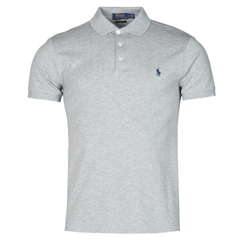 Vêtements Homme Polos manches courtes Polo Ralph Lauren POLO CINTRE SLIM FIT EN COTON STRETCH MESH Gris