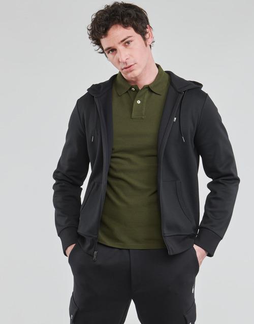 Vêtements Homme Sweats Polo Ralph Lauren SWEATSHIRT A CAPUCHE ZIPPE EN JOGGING DOUBLE KNIT TECH Noir