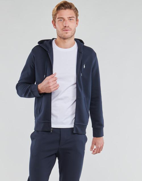 Vêtements Homme Sweats Polo Ralph Lauren SWEATSHIRT A CAPUCHE ZIPPE EN JOGGING DOUBLE KNIT TECH Marine