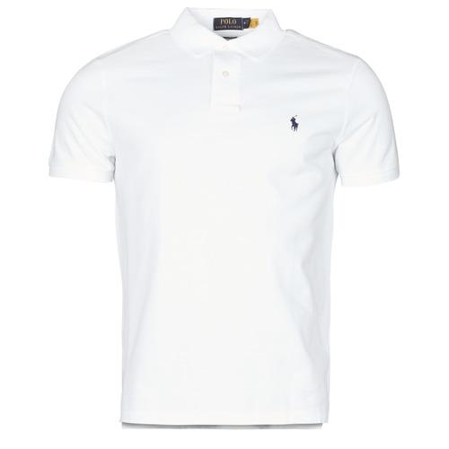 Vêtements Homme Polos manches courtes Polo Ralph Lauren POLO AJUSTE DROIT EN COTON BASIC MESH Blanc