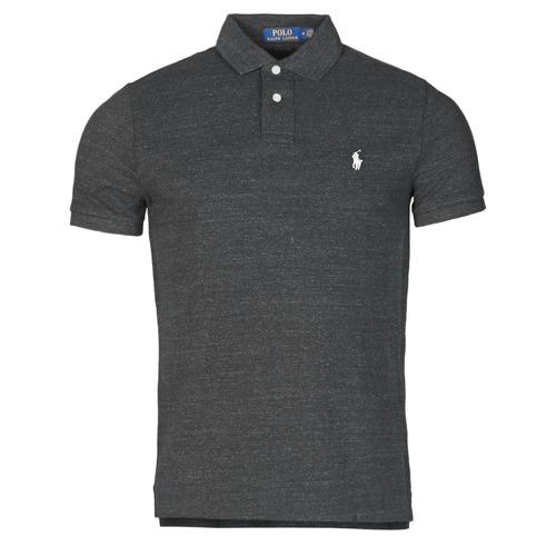 Vêtements Homme Polos manches courtes Polo Ralph Lauren POLO AJUSTE DROIT EN COTON BASIC MESH Noir