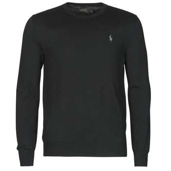 Vêtements Homme Pulls Polo Ralph Lauren PULL COL ROND AJUSTE EN COTON PIMA Noir