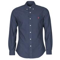 Vêtements Homme Chemises manches longues Polo Ralph Lauren CHEMISE CINTREE SLIM FIT EN OXFORD LEGER Marine