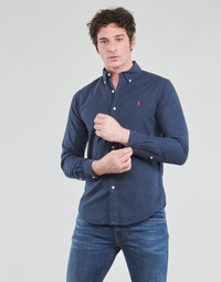 Vêtements Homme Chemises manches longues Polo Ralph Lauren CHEMISE CINTREE SLIM FIT EN OXFORD LEGER Marine