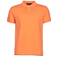 Vêtements Homme Polos manches courtes Polo Ralph Lauren POLO CINTRE SLIM FIT EN COTON BASIC MESH Orange