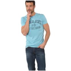 Vêtements Homme T-shirts manches courtes Kaporal T-Shirt Homme Torev Aqua Bleu