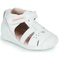 Chaussures Fille Sandales et Nu-pieds Biomecanics 212104 Blanc / Argenté