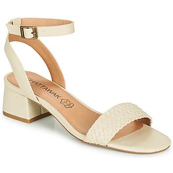 Chaussures Femme Sandales et Nu-pieds Chattawak MUSCADE Crème