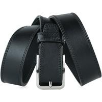 Accessoires textile Homme Ceintures Jaslen Formal Leather Noir