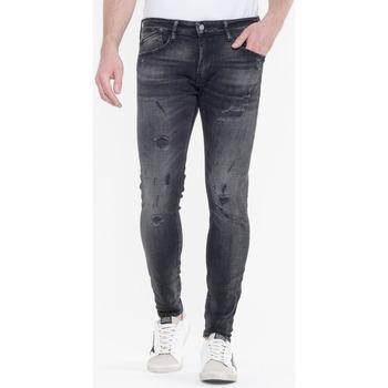Vêtements Homme Jeans skinny Japan Rags Jeans power skinny 7/8ème destroy noir n°1 BLACK
