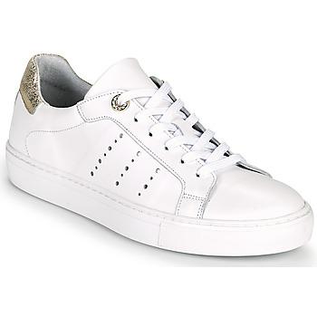 Chaussures Femme Baskets basses Myma PEGGUI Blanc / Doré