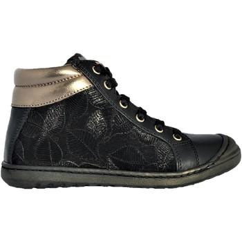 Chaussures Fille Baskets montantes Fr By Romagnoli 4661 noir laminé