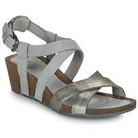 Chaussures Femme Coton Du Monde Teva MAHONIA WEDGE CROSS STRAP ML Gris / Métal