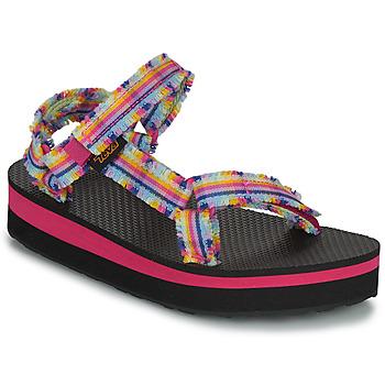 Chaussures Fille Coton Du Monde Teva C MIDFORM FRAY Rose / Multicolore