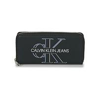 Sacs Femme Portefeuilles Calvin Klein Jeans ZIP AROUND GLOW Noir