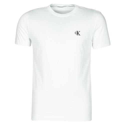 Vêtements Homme T-shirts manches courtes Calvin Klein Jeans YAF Blanc