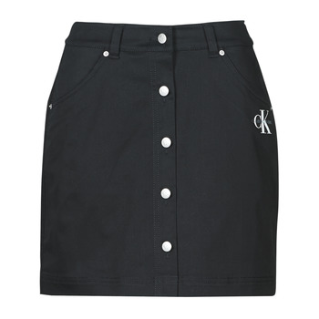 Vêtements Femme Jupes Calvin Klein Jeans COTTON TWILL MINI SKIRT Noir