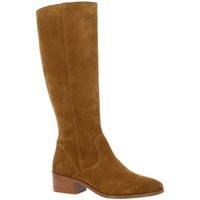 Chaussures Femme Bottes ville Impact Bottes cuir velours  tabac Tabac
