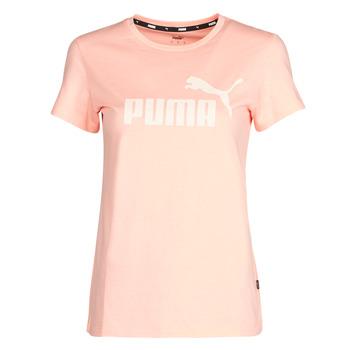 Vêtements Femme T-shirts manches courtes Puma ESS Logo Tee (s) Abricot