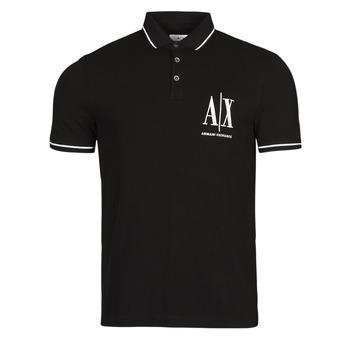 Vêtements Homme Polos manches courtes Armani Exchange 8NZFPA-Z8M5Z Noir