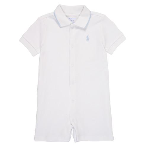 Vêtements Garçon Combinaisons / Salopettes Polo Ralph Lauren TONNY Blanc