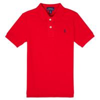 Vêtements Garçon Polos manches courtes Polo Ralph Lauren MENCHI Rouge