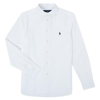 Vêtements Garçon Chemises manches longues Polo Ralph Lauren CAMIZA Blanc