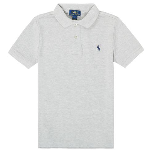 Vêtements Garçon Polos manches courtes Polo Ralph Lauren FRANCHI Gris