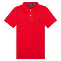 Vêtements Fille Polos manches courtes Polo Ralph Lauren FRANCHI Rouge
