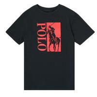 Vêtements Garçon T-shirts manches courtes Polo Ralph Lauren CROPI Noir