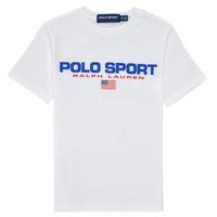 Vêtements Garçon T-shirts manches courtes Polo Ralph Lauren DRONI Blanc