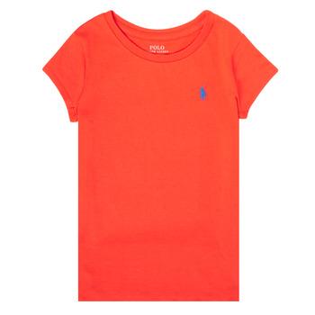 Vêtements Fille T-shirts manches courtes Polo Ralph Lauren SIDONIE Rouge