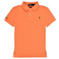 Vêtements Garçon Polos manches courtes Polo Ralph Lauren POLLIE Orange