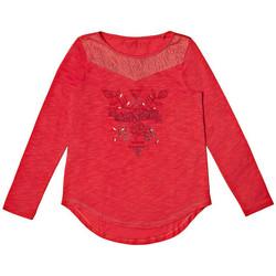 Vêtements Fille T-shirts manches longues Guess T-shirt Manches longues Fille Rouge (rft) Rouge